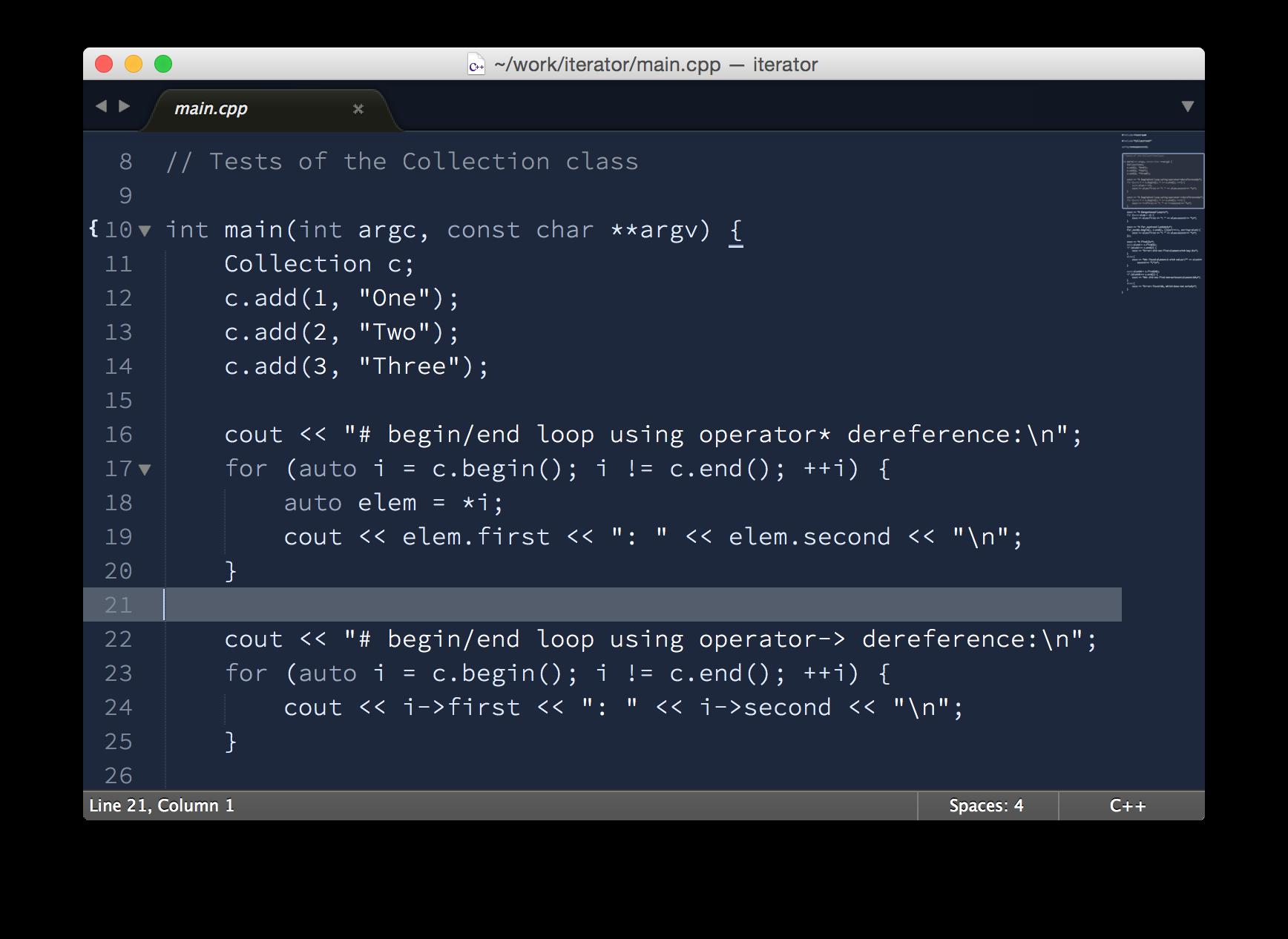 Blueprint theme screenshot